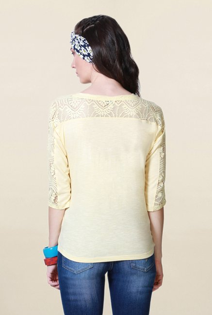 People Yellow Textured Top