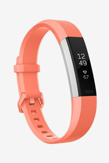 Fitbit Alta HR Fitness Tracker (Coral, Stainless Steel)Large