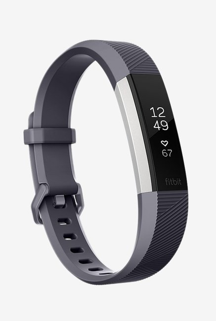 Fitbit Alta HR Fitness Tracker (Blue Grey, Stainless Steel) Large