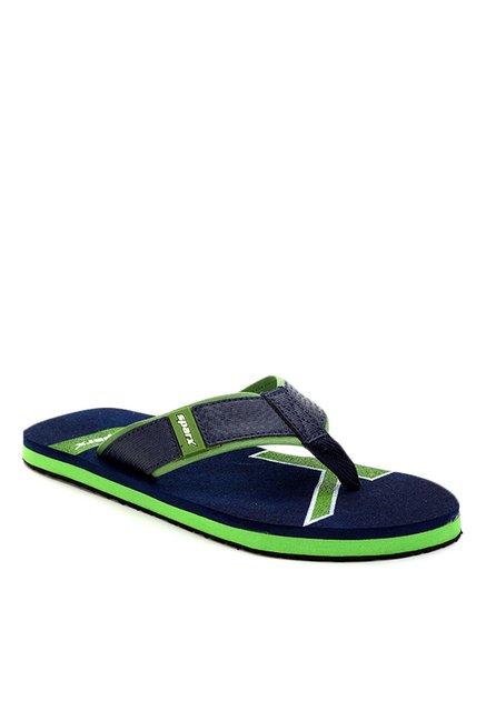 e4fb2a416 Buy Sparx Navy   Green Flip Flops for Men at Best Price   Tata CLiQ