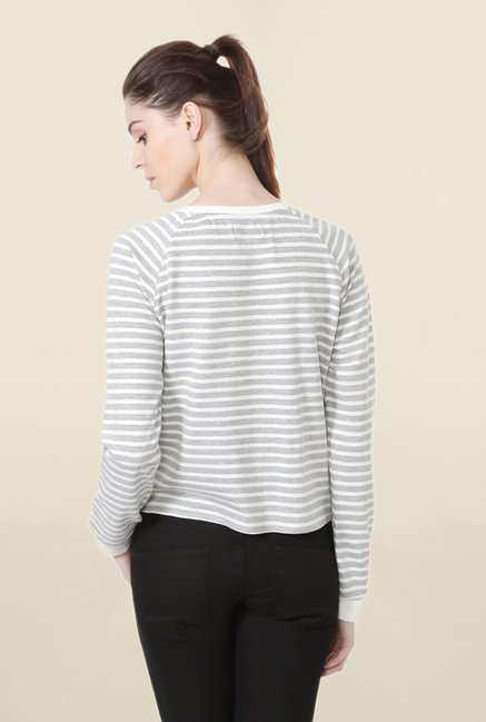 People Grey Striped Top