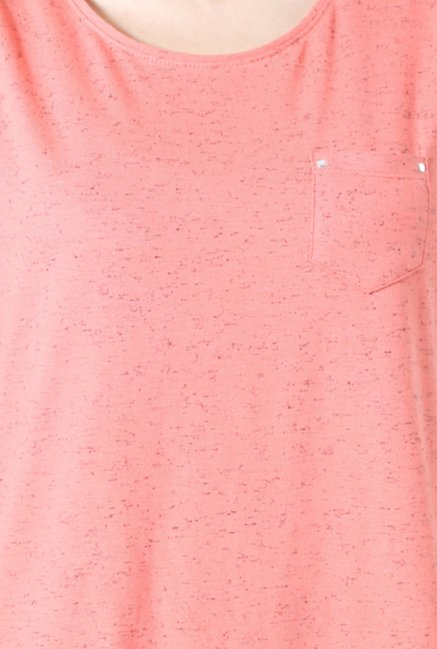 People Peach Printed Top