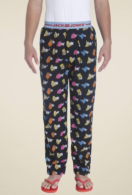 Buy Jack   Jones Black Printed Cotton Pyjamas for Men Online   Tata CLiQ 64b7e44e4