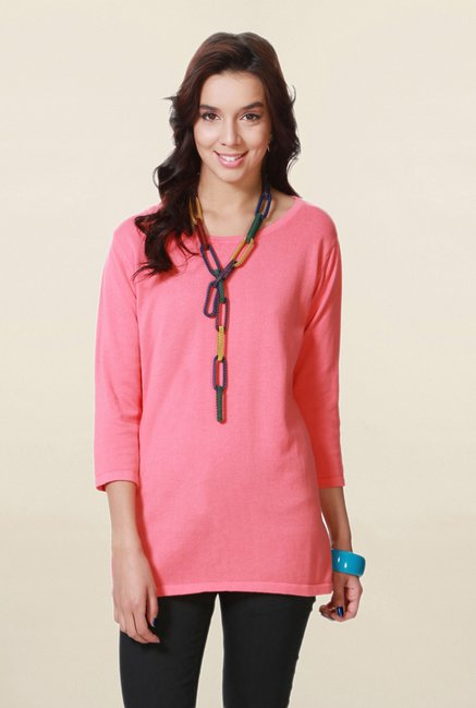 People Pink Textured Top