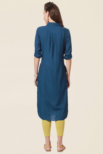 People Teal Printed Kurta