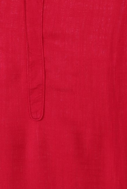 People Dark Pink Textured Kurta
