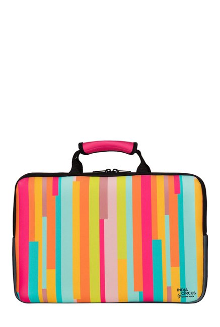 India Circus Life is a Blur Multicolor Printed Laptop Sleeve