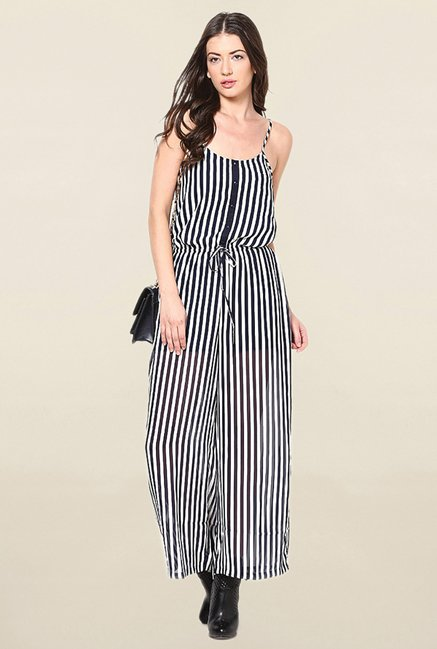 Buy Only Navy White Striped Jumpsuit For Women Online At Tata Cliq