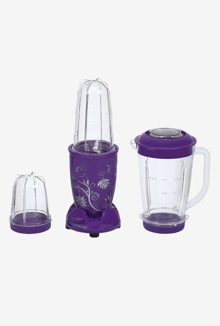 Wonderchef Nutri blend 400 W Juicer Mixer Grinder  Purple