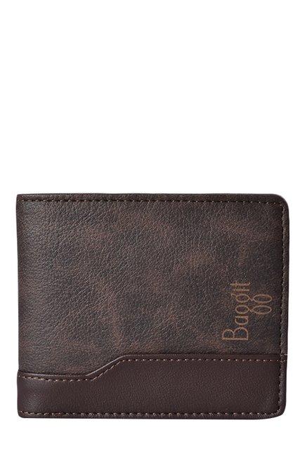 Baggit GW Chris Times Brown Bi-Fold Wallet