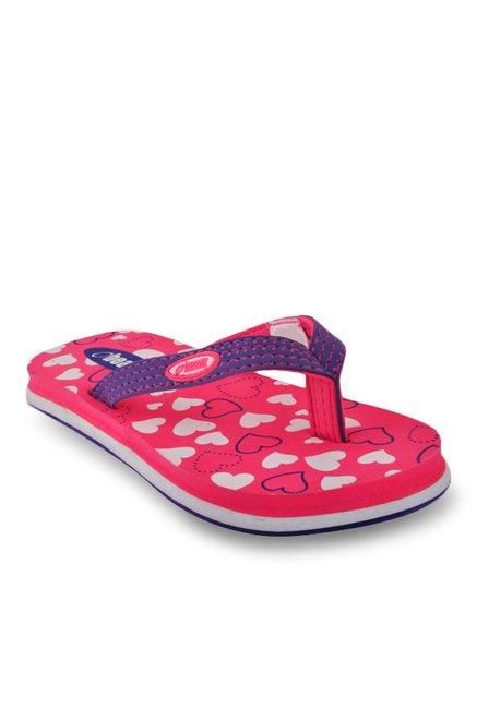 Beanz Little Hearts Violet & Pink Flip Flops