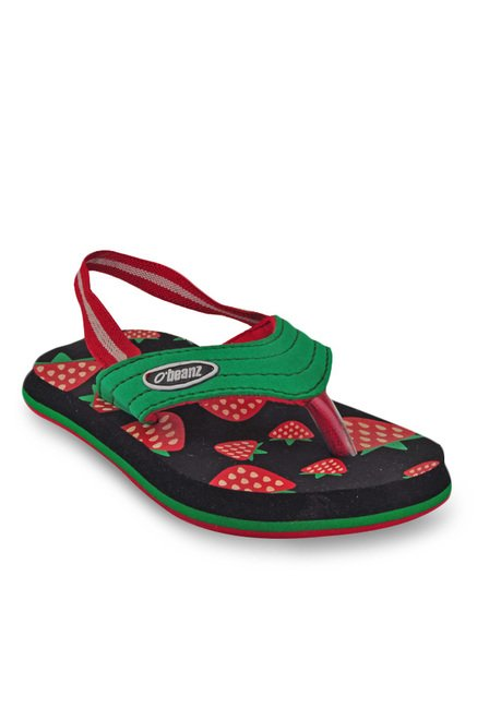 4008101ac Buy Beanz Strawberry Green   Red Back Strap Flip Flops for Girls at ...
