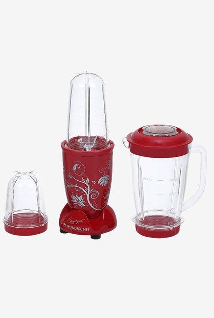 Wonderchef Nutri blend 400 W Juicer Mixer Grinder  Red