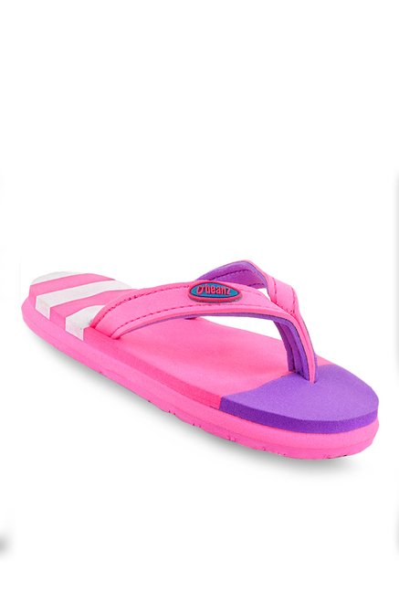 Beanz Regina Pink & Purple Flip Flops