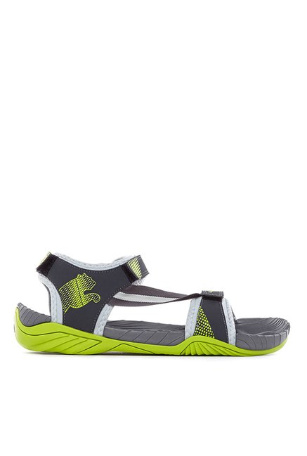 e550904c2b45 Buy Puma K9 DP Limestone   Lime Green Floater Sandals for Men at ...