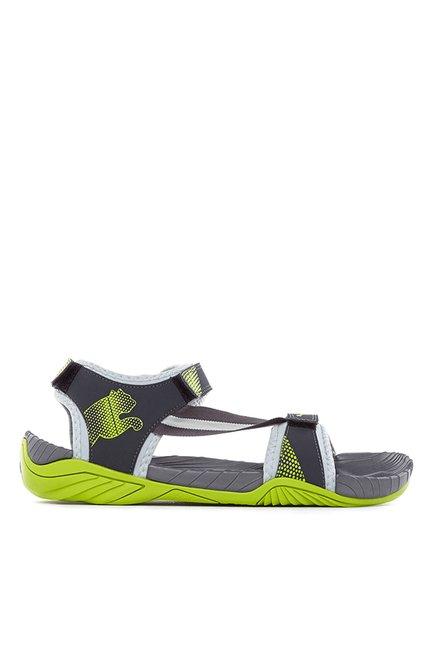 Buy Puma K9 DP Limestone   Lime Green Floater Sandals for Men at Best Price    Tata CLiQ e21bcb307