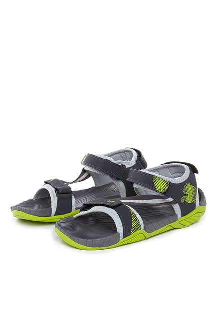 a5d62e0560dd Buy Puma K9 DP Limestone   Lime Green Floater Sandals for Men at ...
