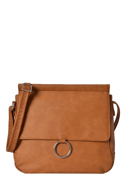 125386f3caf7 Buy Baggit LXE3 Freezy E Stella Mustard Brown Sling Bag For Women At Best  Price   Tata CLiQ