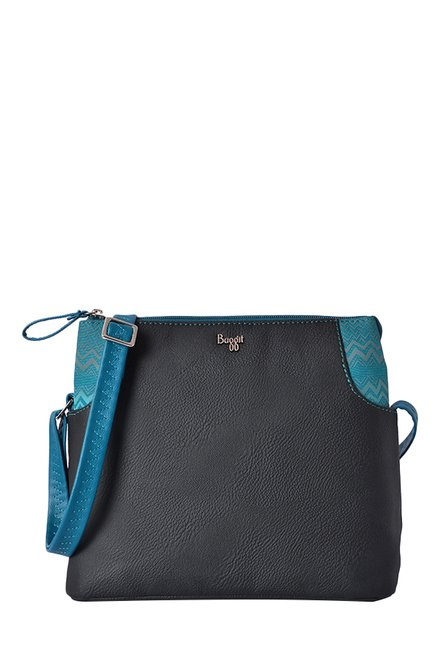 Buy Baggit L Droom Krispa Black   Blue Sling Bag For Women At Best Price    Tata CLiQ 4e6ae1fa1