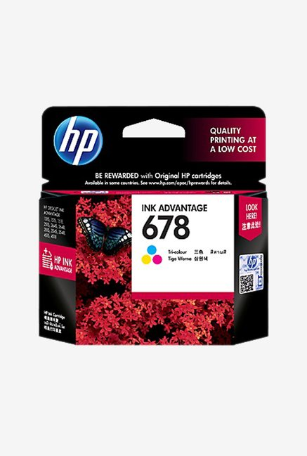 HP 678 CZ108AA Ink Cartridge  New MRP  Tri color