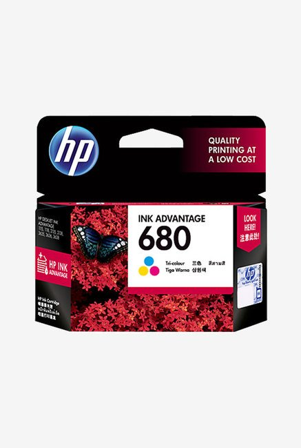 HP 680 F6V26AA Ink Cartridge  New MRP  Tri color