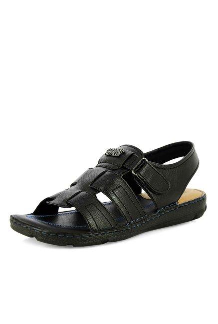 ab2f1ea15c13b Buy Alberto Torresi Azores Black Fisherman Sandals For Men Online At Tata  CLiQ