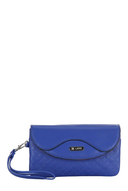 Lavie Toni Cobalt Blue Stitched Wristlet