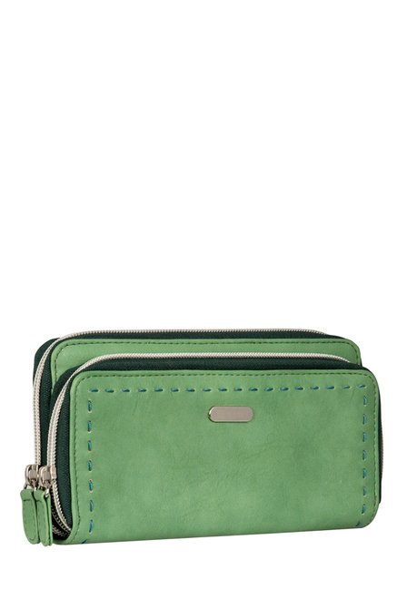 Lavie Path Green Stitched Wallet