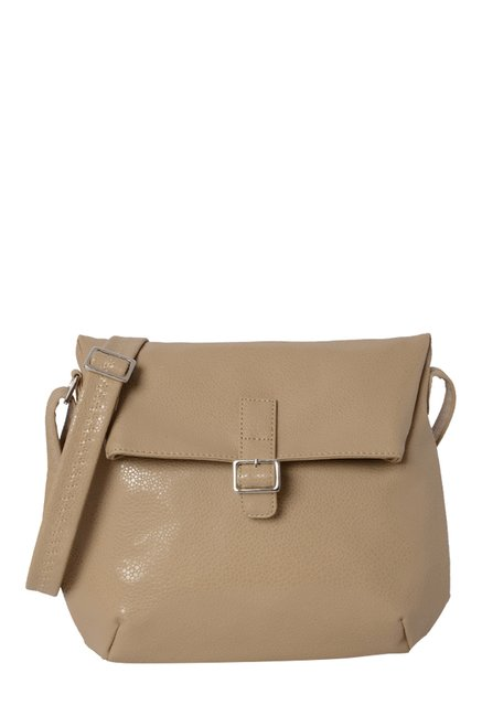 0c4162b33072 Buy Baggit Manther Tobby Beige Solid Sling Bag For Women At Best Price    Tata CLiQ