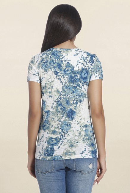 Only White Floral Print T Shirt