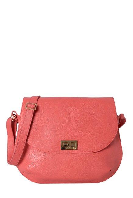 Baggit Skater Denon Pink Solid Sling Bag
