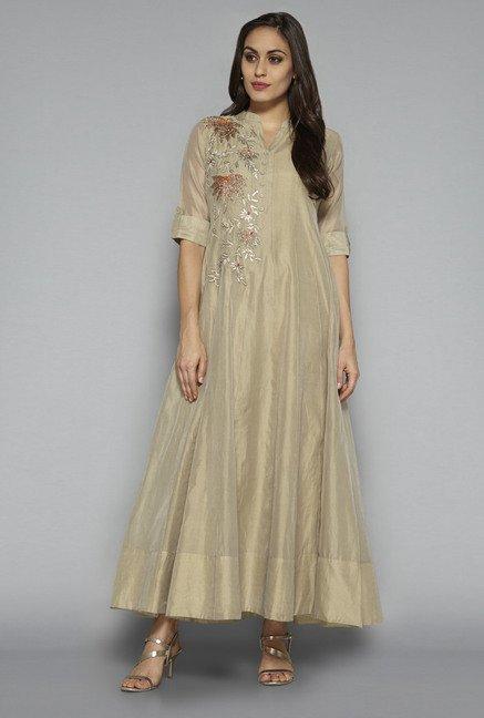 64d9ef89fadb Buy Vark by Westside Beige Ethnic Maxi Dress for Women Online ...