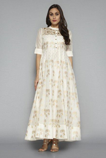 90f49d0fe4d Buy Vark by Westside Off White Ethnic Maxi Dress for Women Online ...