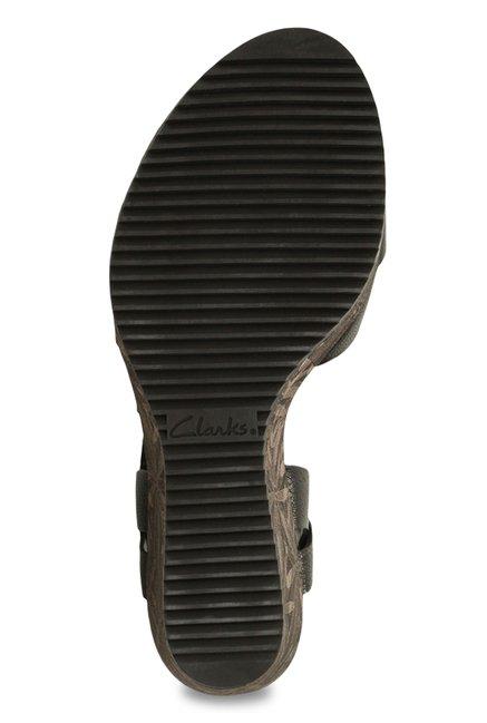 5c497b568b0 Buy Clarks Adesha River Black T-Strap Wedges for Women at Best Price ...