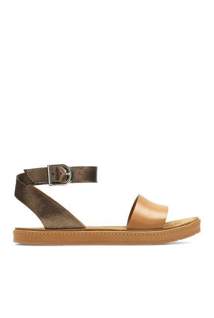c5dafb722 Buy Clarks Romantic Moon Tan   Bronze Ankle Strap Sandals for Women at Best  Price   Tata CLiQ