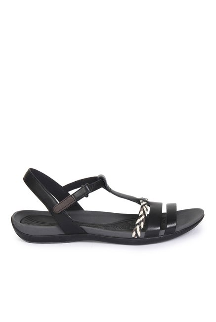36ff32c7932a Buy Clarks Tealite Grace Black T-Strap Sandals for Women at Best Price    Tata CLiQ
