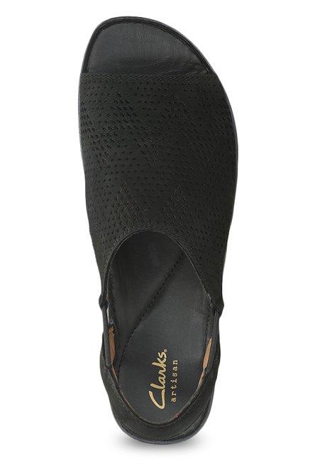 19985c90390f Buy Clarks Sarla Cadence Black Sling Back Sandals for Women at Best ...