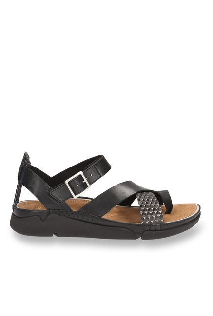 785928601421 Buy Clarks Tri Ariana Black Toe Ring Sandals for Women at Best Price ...