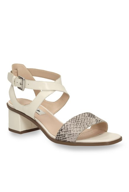 d34e5d9853747a Buy Clarks Ivangelie Ray Cream Cross Strap Sandals for Women at Best Price    Tata CLiQ