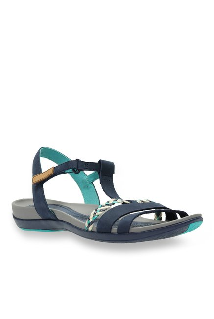 6892ac119e7 Buy Clarks Tealite Grace Navy T-Strap Sandals for Women at Best Price    Tata CLiQ