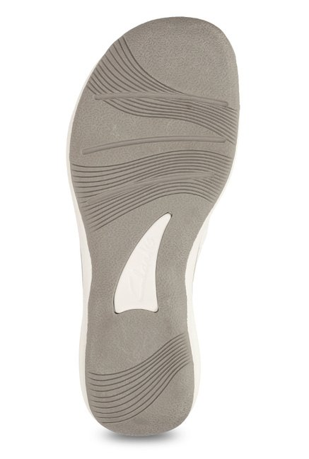 1305f977588835 Buy Clarks Brinkley Mila White   Grey Thong Sandals for Women at ...