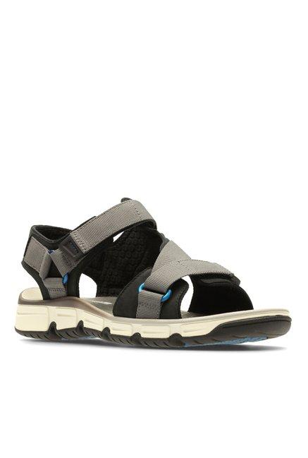 b018321fc6b0 online exclusive. New. COD. Clarks Explore Active Grey   Black Floater  Sandals