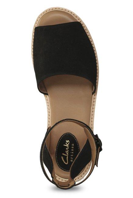7423771330eb Buy Clarks Lydie Hala Black Ankle Strap Sandals for Women at Best ...