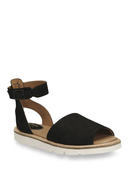 5e75fa489822 Buy Clarks Lydie Hala Black Ankle Strap Sandals for Women at Best Price    Tata CLiQ