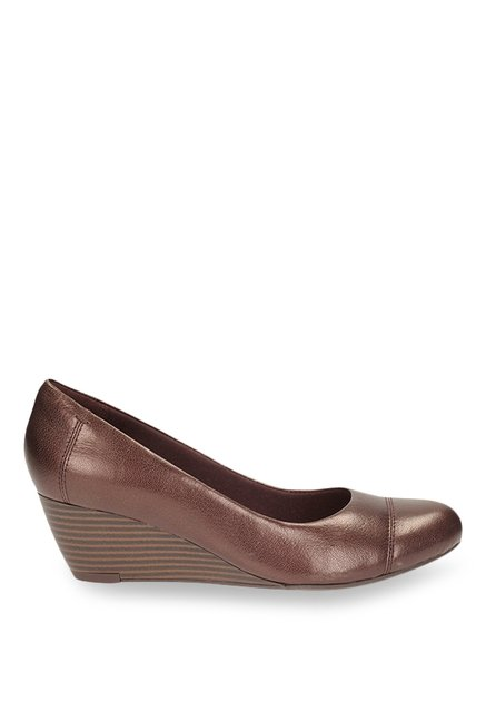 d739f96735d08 Buy Clarks Brielle Andi Dark Brown Wedge Heeled Pumps for Women at ...
