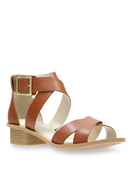 f9b562e82 Buy Clarks Sandcastle Ray Tan Cross Strap Sandals for Women at ...