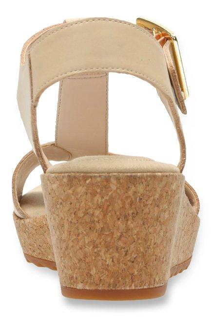 0018927d310 Buy Clarks Kamara Kiki Nude T-Strap Wedges for Women at Best Price ...