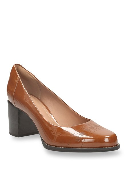 d4721482576b Buy Clarks Tarah Sofia Cognac Pumps for Women at Best Price   Tata CLiQ