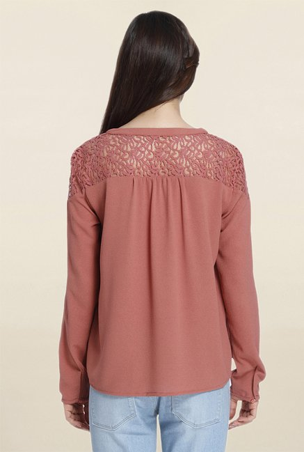 Only Pink Lace Blouse