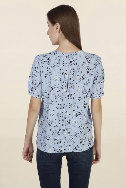 Chemistry Blue Printed Top